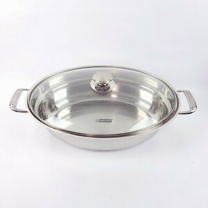 TRAMONTINA 6 QT. Stainless Steel Water Pan with Lid