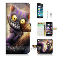( For iPhone 6 / 6S ) Wallet Case Cover PB10327 Cheshire Cat