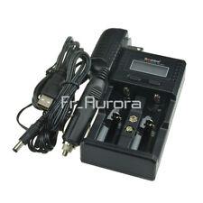 Soshine H2 LCD Display Car / Wall Battery Charger for 18650 26650 Li-ion Battery