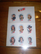planche autocollant group action joe sticker vintage trés rare