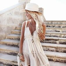 Free People 100 Degree Ivory Sand Boho Date Party Beach Dress XS Sold Out