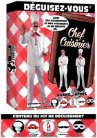 Déguisement Homme Kit Chef CUISINIER Costume Adulte NEUF Pas cher