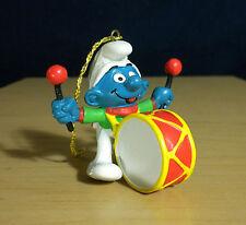 Smurfs Christmas Drummer Ornament Figure Vintage Smurf Toy PVC Figurine 51908