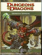 Monster Manual Dungeons & Dragons 4th Edition New