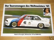 BMW M3 E30 POSTER 11 - WELTMEISTER 87 TOURENWAGEN / ORIGINAL VINTAGE in MINT RAR