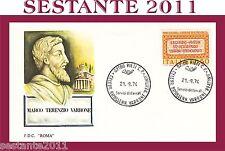ITALIA, FDC ROMA  ,1974,  MARCO TERENZIO VARRONE , ANNULLO RIETI  (96)