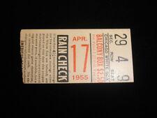 April 17, 1955 Cleveland Indians @ Chicago White Sox Ticket Stub EX