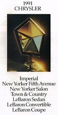 1991 Chrysler Folleto: Imperial, New Yorker 5th Avenue, Lebaron, Town & Country,