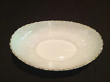 OPEN VEGETABLE BOWL BY LENOX IN THE LAURENT PATTERN - GOLD RIM