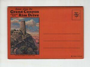 Vintage Post Card Folder  Scenes Along the Grand Canyon National Park Rim Drive