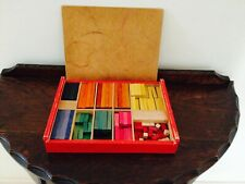 Vintage Cuisenaire Colour By Numbers Rods in Wooden Box