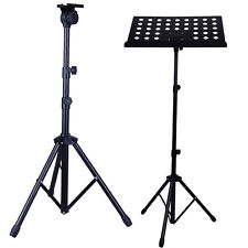 New Iron Adjustable Height Folding Music Stand Holder Fold Stage Black