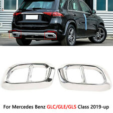 Exhaust Pipes Tailpipe End Tips Cover Trim For Mercedes Benz GLE350 GLE450 C167