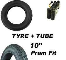 "Pram Tyre & Bent Valve Tube 10"" Quinny Buzz Speedi Phil & Teds Dot Tire 10"""