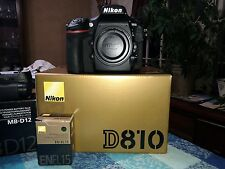 Nikon D D810 36.3 MP Digital SLR Camera - Black (Body Only) With Mbd-12 Grip