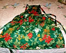 Christmas Full Apron Forest Green Double-thick Top
