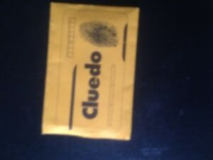 Cluedo Game, Murder Cards Envelope. Genuine Hasbro Product.