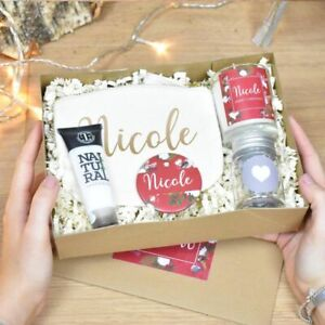 Personalised Christmas Gift Box for Her Christmas Gift Set Red Robin Design