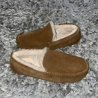 UGG MOC BROWN SUEDE/ SHEEPSKIN SLIPPERS SHOES, Men's  US 13 UK 12