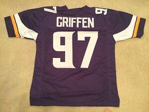 UNSIGNED CUSTOM Sewn Stitched Everson Griffen Purple Jersey - M, L, XL, 2XL