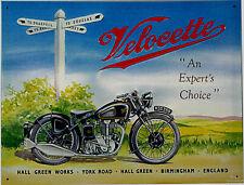 Velocette Schild Motorrad rar Poster classic 50s racer english Oldtimerbike *098