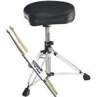 K&M 14000 Gomezz Drumhocker Lederbezug + keepdrum Drumsticks