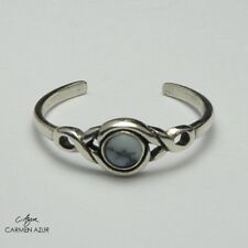 Howlite Stone Ladies New inc Gift Bag Solid 925 Sterling Silver Toe Ring Marbled