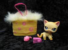 Littlest Pet Shop #339 Race About Ranch Orange Cat Blue Eyes + Accessories
