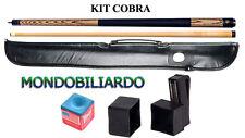 KIT STECCA DA BILIARDO COBRA 102 - CALCIO + PUNTALE - POOL 8-15 - PUNTA 13mm