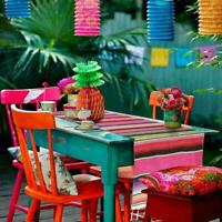 1* Mexican Striped Picnic Tablecloth Table Runner Wedding Party Birthday T1Y5