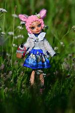 """OOAK Monster High/Ever After High Repaint muñeca - """"pequeña oveja"""" - única"""