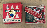 Vintage Double Glo Christmas Tree Reflectors Lot Used And Worn