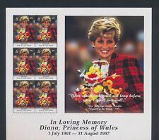 XC88548 Turks & Caicos 1997 princess Diana royalty XXL sheet MNH