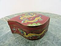 ANTIQUE ANTIQUE CHINESE BRASS BROWN CLOISONNE BLUE ENAMEL YELLOW DRAGONS