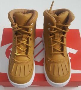 Kids Nike Woodside 2 High (PS) Wheat/White Size 12C 524873-702