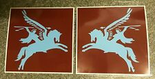 MILITARY ARMY LAND ROVER PEGASUS PARA STICKERS Pair Left Right Facing