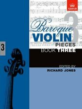 Baroque Violin Pieces, Book 3: Bk. 3 Paperback Book The Cheap Fast Free Post