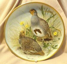 Franklin Porcelain Common Partridge Gamebirds Plate 1979 Haviland Limoges