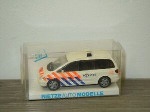 VW Volkswagen Sharan Politie - Rietze Auto Modelle 1:87 in Box *49390