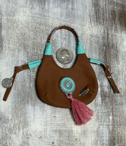 """Mini Faux Leather Hand Bag Purse Fit 18/"""" American girl Doll Party Accessory Blue"""