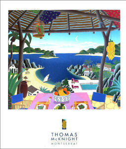 Thomas McKnight Montserrat Tropical Island Poster 31 x 26