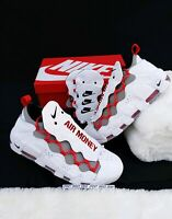 SIZE 9 MEN'S 2018 Nike Air More Money Uptempo White Habanero Red BV2520-100