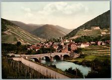 Ahrtal. Rech. PZ vintage photochromie, Deutschland photochromie, vintage photo
