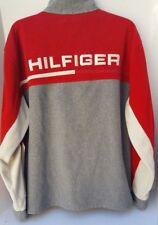 Tommy Hilfiger Sweatshirt Mens Red Cream Gray Block Colors Zipper STITCH L G/G