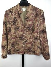 Coldwater Creek Lightweight Pink and Brown Jacket Plus Size 14