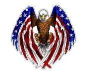 2x U.S. Bald Eagle Flag Sticker Decal Car Truck USA America Patriots Army AR-15