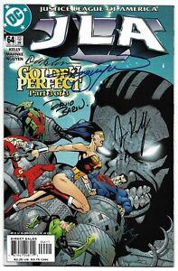 JLA 64 Signed by 4 DC Justice League Wonder Woman Superman Green Lantern