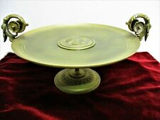 Antique Bronze Tazza Coupe Dish Neoclassical Ornate Footed & Handled 1800's