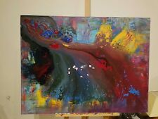 Go With The Flow. Abstract Painting On Canvas 100cm x 75cm