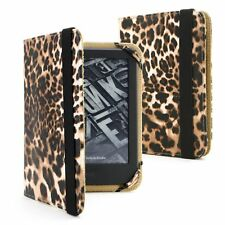 "Black Leopard Amazon Cover PU Leather Case Cover for Kindle Paperwhite 6"" 2018"
